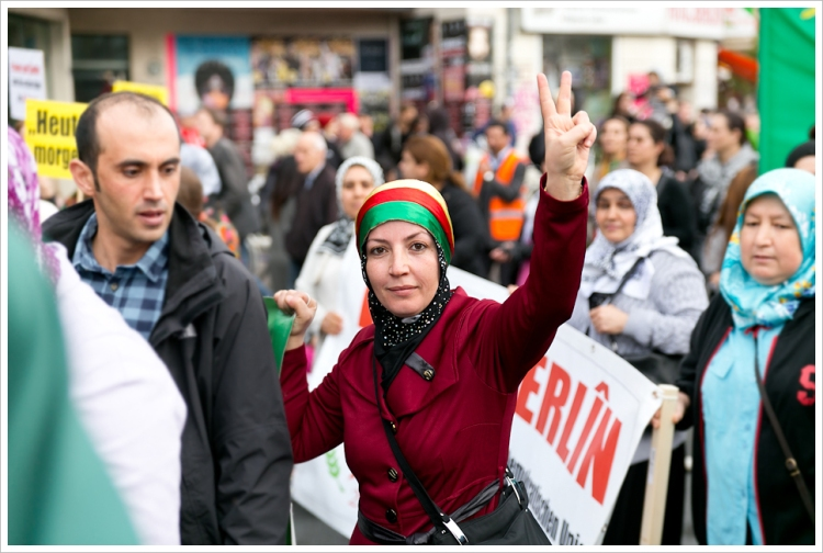 Berlin ist Kobane demo
