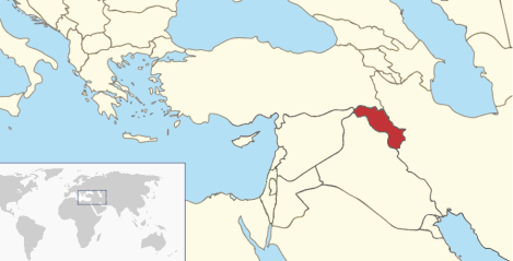 Map of Iraqi Kurdistan