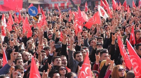 MHP supporters in Istanbul, Turkey.